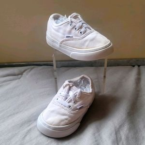 Baby Vans Classic White Lace Up Size 4.5